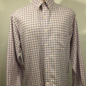 Tommy Bahama Men's Size 16 Plaid/check Long Sleeve